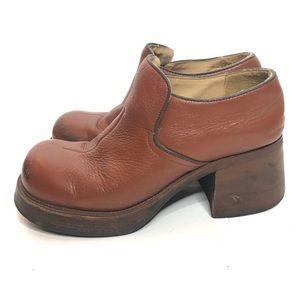 Vintage Skechers Leather Platform Shoes Loafers 7